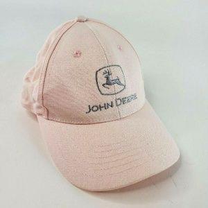 Women's Light Pink John Deere Baseball Cap EUC